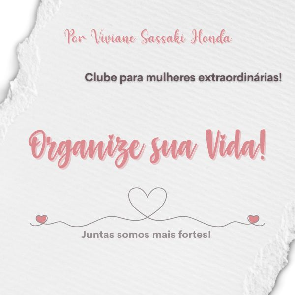 Imagem principal do produto Clube Organize sua Vida!