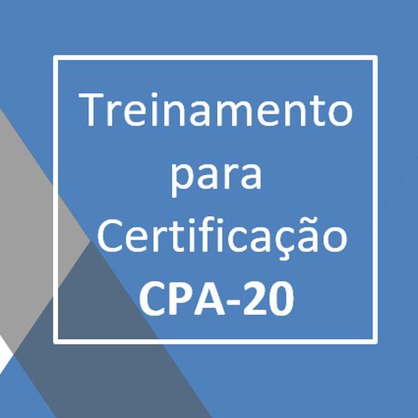 Imagem principal do produto Treinamento para Certificação CPA-20 - Turma 1 - 2021
