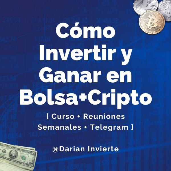 """Imagem principal do produto """"Cómo Invertir y Ganar en Bolsa + Cripto"""" - Curso Videos Teóricos + Reuniones Semanales + Comunidad Telegram"""