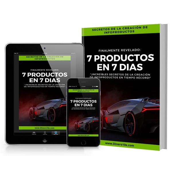 Imagem principal do produto 7 Productos En 7 Días: ¡Increíbles Secretos De La Creación De Infoproductos En Tiempo Récord!