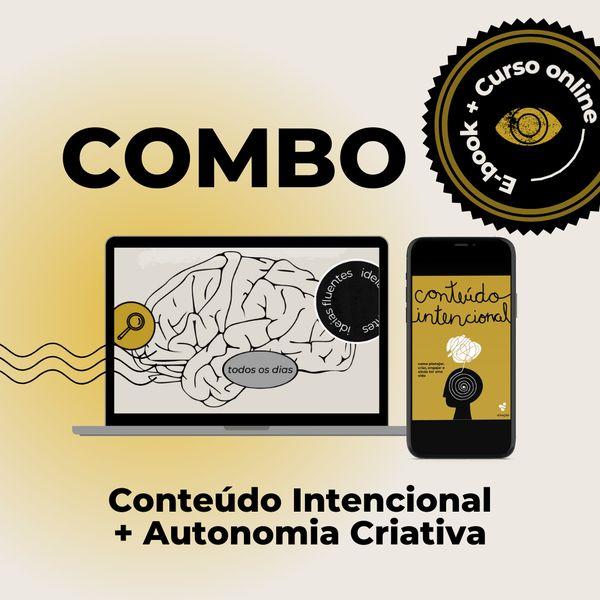Imagem principal do produto COMBO E-book Conteúdo Intencional + Curso Autonomia Criativa