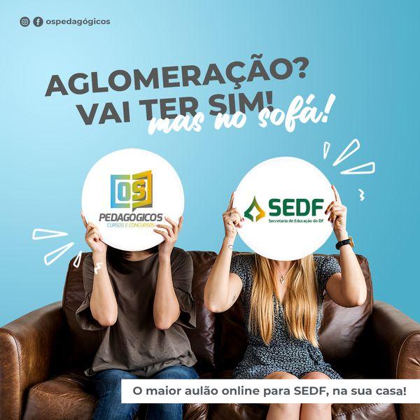 Imagem principal do produto Aulão SEDF - Ao vivo e aglomerado na sua casa!