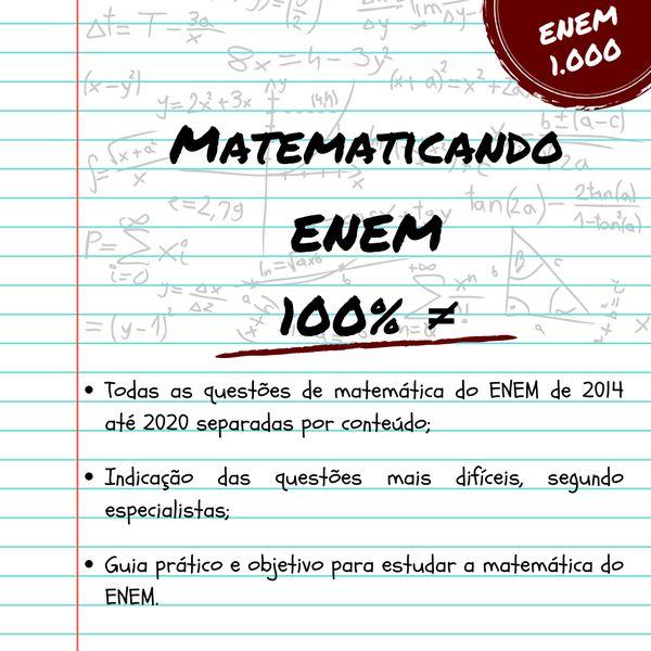 Imagem principal do produto Matematicando ENEM 100% ≠