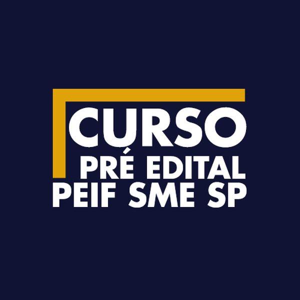 Imagem principal do produto Curso Pré Edital PEIF SME SP