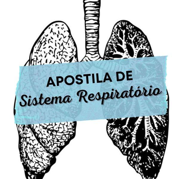 Imagem principal do produto Apostila de Sistema Respiratório