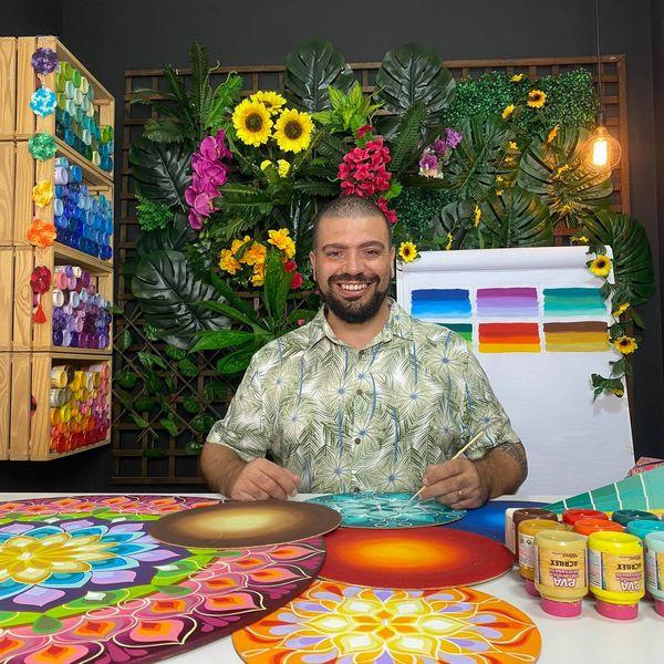 Imagem principal do produto Curso Mandala Floral em Degradê