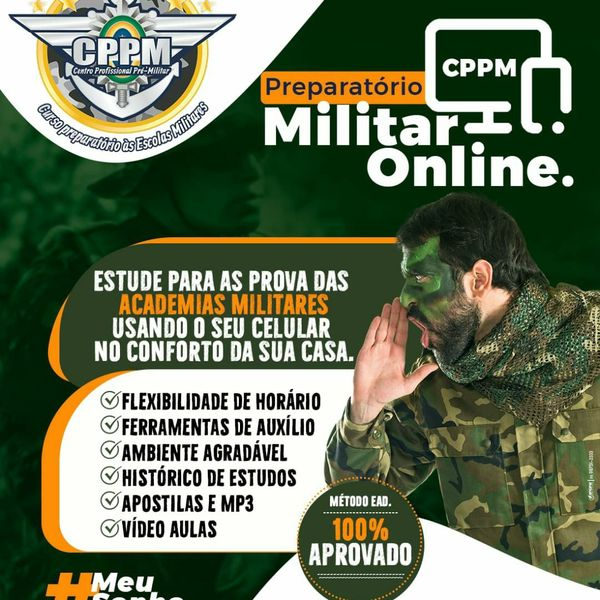Imagem principal do produto CPPM Preparatório Militar, Método definitivo Ingresse na Carreira Militar