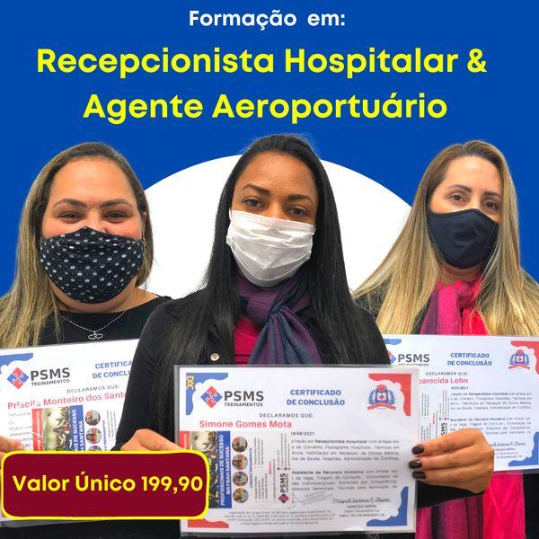 Imagem principal do produto Formação em Recepcionista Hospitalar e Assistente de RH - Turma Presencial Centro RJ