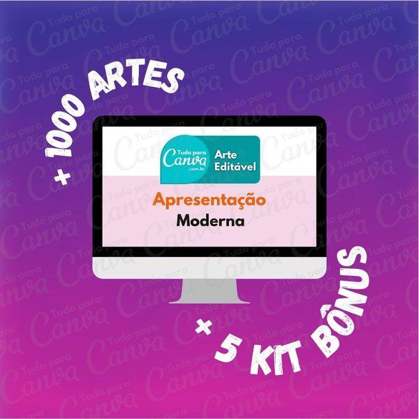 Imagem principal do produto Apresentação Moderna - Artes Para Canva +1000Artes+5KitsBônus