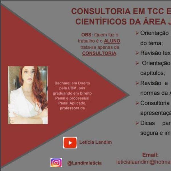Imagem principal do produto CONSULTORIA DE TCC JURÍDICO