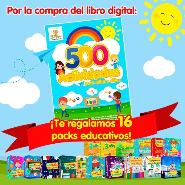 Imagem principal do produto 500 Actividades para niñas y niños + 16 Packs educativos