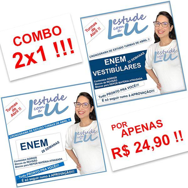 Imagem principal do produto COMBO 2X1 Turma de Abril Estude com a Lu Enem e Vestibular