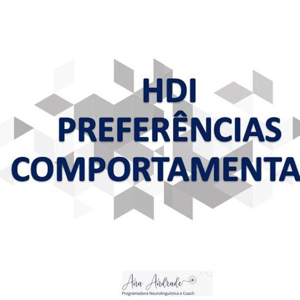 Imagem principal do produto Análise Perfil Comportamental - HDI