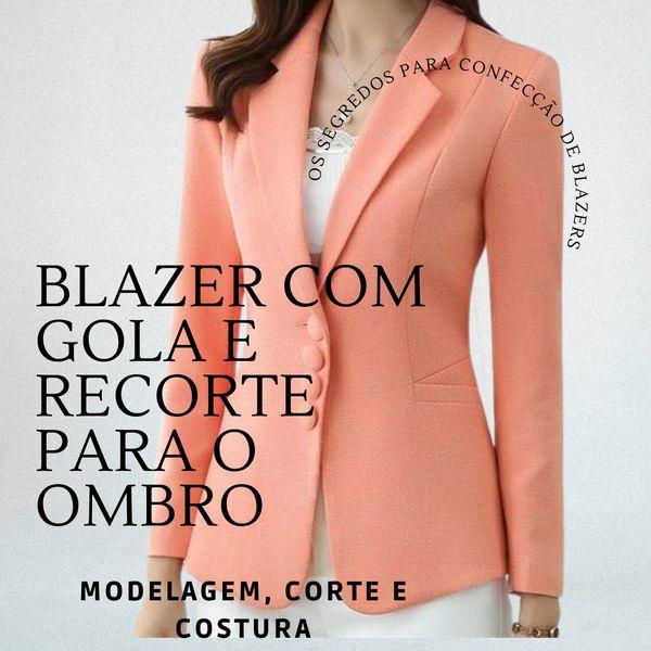 Imagem principal do produto Blazer com recorte para o ombro - Modelagem, corte e costura