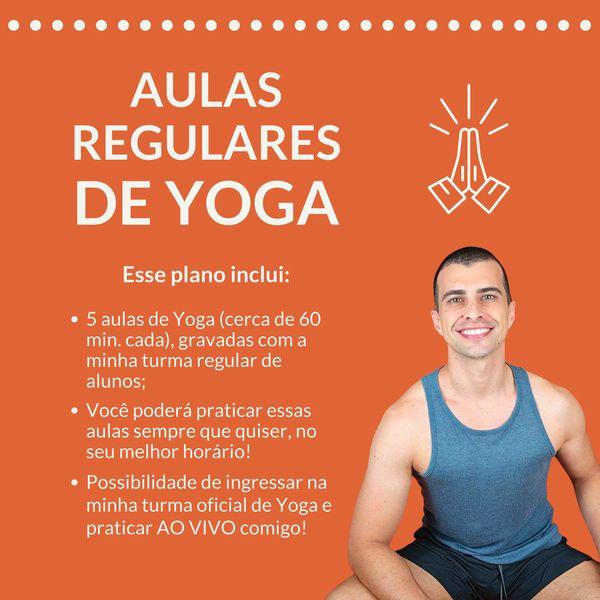 Imagem principal do produto 5 aulas completas de Yoga com o professor Vicente Mahfuz - Yoga em Casa