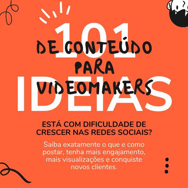 Imagem principal do produto 101 Ideias de Conteúdo para Videomakers
