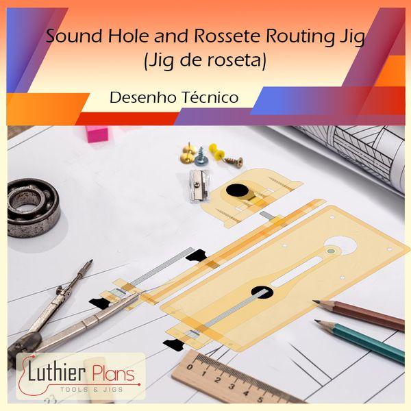 Imagem principal do produto Ferramentas para Luthieria - Sound Hole and Rossete Routing Jig (Desenho Técnico)