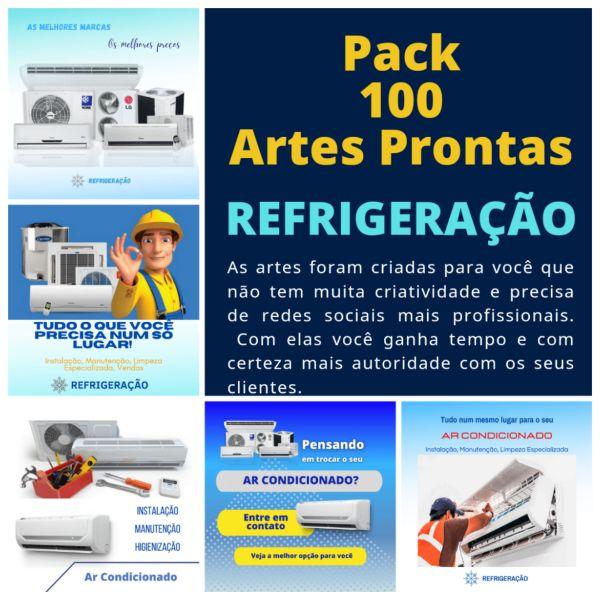 Imagem principal do produto 100 Artes Prontas - REFRIGERAÇÃO/AR CONDICIONADO