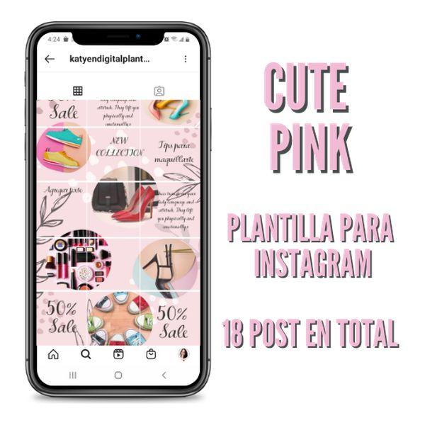 Imagem principal do produto cute pink plantilla editable con Vídeo