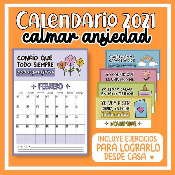 Imagem principal do produto Calendario 2021 para calmar ansiedad ♥