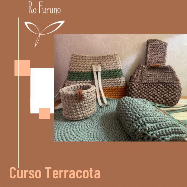 Imagem principal do produto Kit Terracota - Peças em Crochê