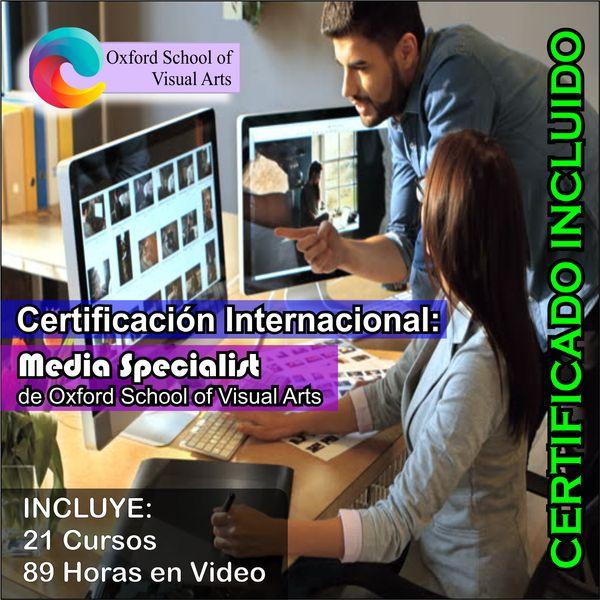 Imagem principal do produto Certificación Internacional: Media Specialist de Oxford School of Visual Arts
