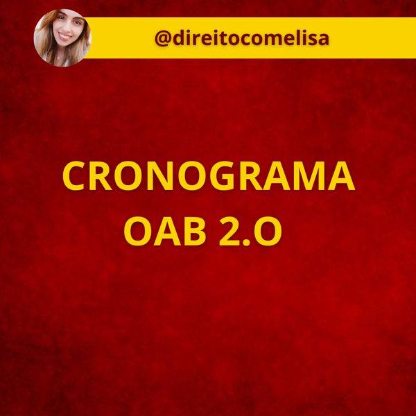 Imagem principal do produto CRONOGRAMA OAB 2.0 - 1º FASE