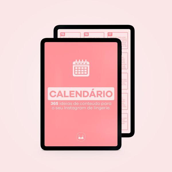 Imagem principal do produto Calendário com 365 ideias de conteúdo para o seu Instagram de lingerie