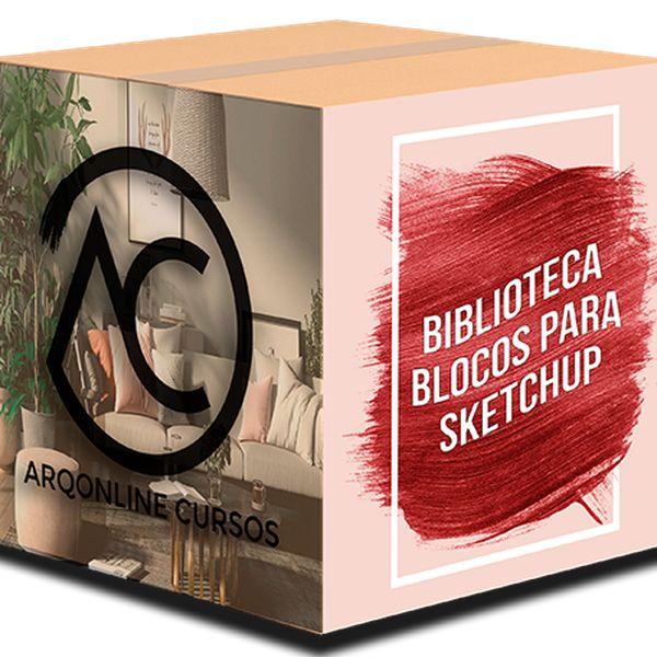 Imagem principal do produto Biblioteca Blocos para Sketchup