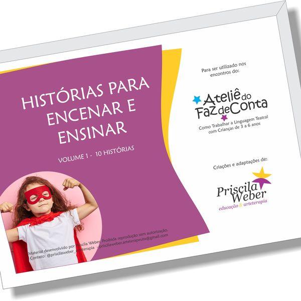 Imagem principal do produto HISTÓRIAS PARA ENCENAR E ENSINAR 1
