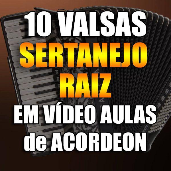Imagem principal do produto 10 VALSAS SERTANEJO RAIZ EM VÍDEO AULAS DE ACORDEON