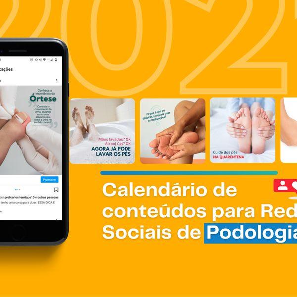 Imagem principal do produto Calendário de Conteúdo para Podologia