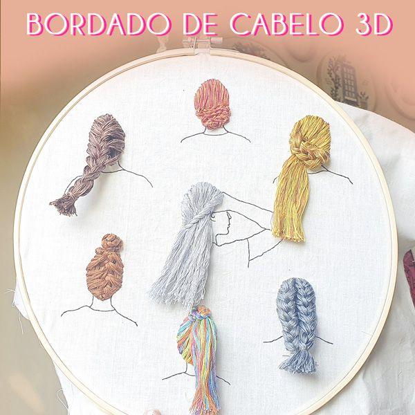 Imagem principal do produto Curso bordado de cabelo em 3D