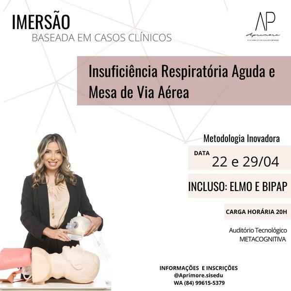 Imagem principal do produto Imersão em Casos Clínicos - Insuficiência Respiratória Aguda e Mesa de Via Aérea