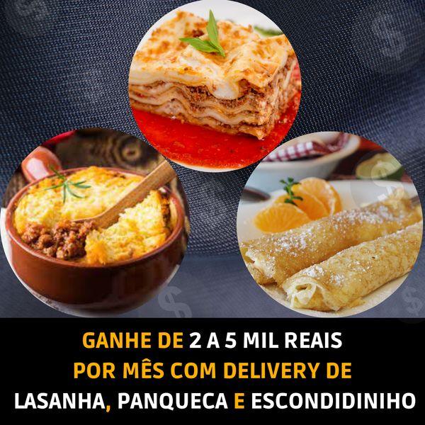 Imagem principal do produto Ganhe de 2 a 5 Mil por mês com Delivery de Lasanha, Panqueca e Escondidinho
