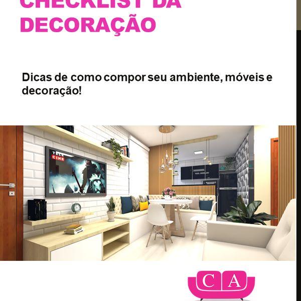 Imagem principal do produto Checklist da Decoração! Dicas de como compor seu ambiente móveis e decoração