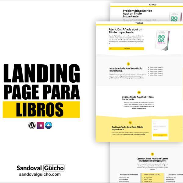 Imagem principal do produto 26-. 👉 Combo: Landing Page y Página de Ventas para Libros y E-Books - Compatibles para WordPress y Elementor.