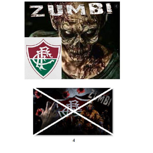 Imagem principal do produto Fluminense zumbi foto para estampar camisetas 4