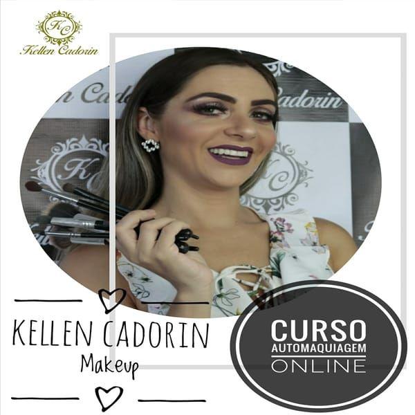 Imagem principal do produto Curso de Automaquiagem Online Kellen Cadorin