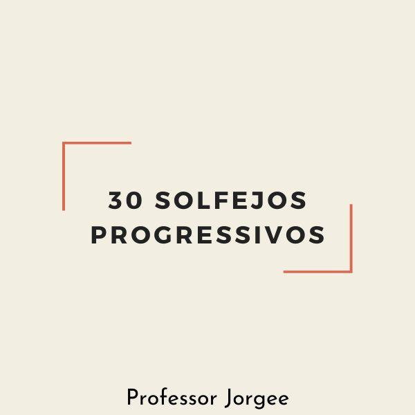 Imagem principal do produto 30 SOLFEJOS PROGRESSIVOS (volume 1)