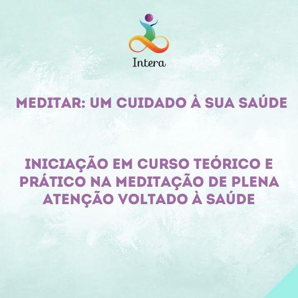 Imagem principal do produto Meditar: Um cuidado à sua saúde!