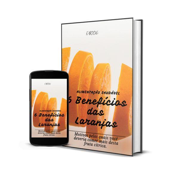 Imagem principal do produto E-book - Alimentação Saudável 6 benefícios das Laranjas