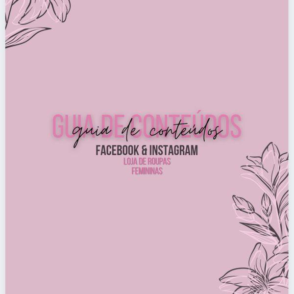 Imagem principal do produto Guia de Conteúdos - Facebook & Instagram - Loja de Roupas Femininas