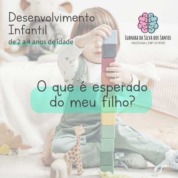 Imagem principal do produto Desenvolvimento Infantil de 2 a 4 anos de idade: o que é esperado do meu filho?