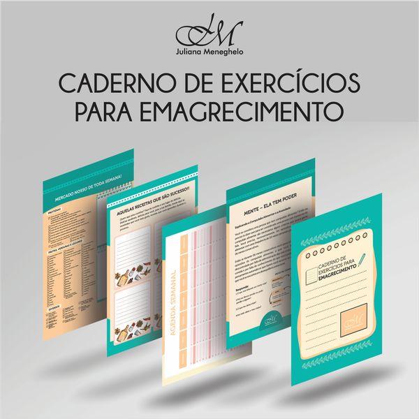 Imagem principal do produto Caderno de Exercícios Para Emagrecimento - por Juliana Meneghelo