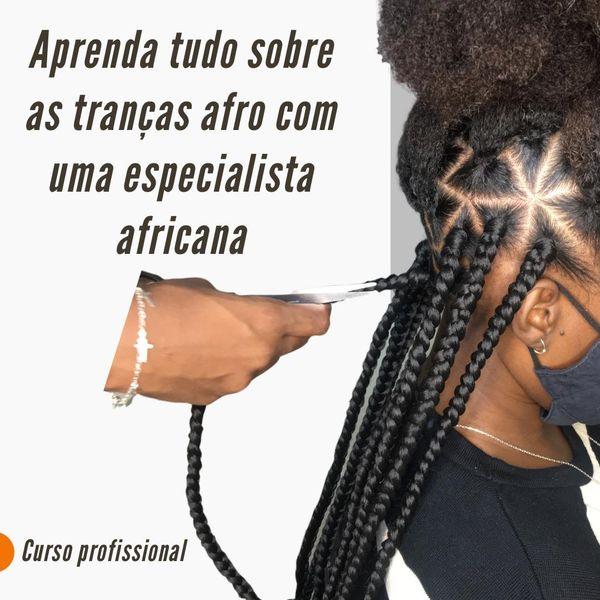 Imagem principal do produto APRENDA TUDO SOBRE TRANÇA AFRICANA COM UMA ESPECIALISTA AFRICANA.