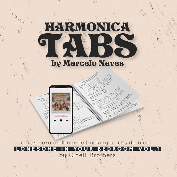 Imagem principal do produto Harmonica Tabs by Marcelo Naves (Cifras de Gaita por Marcelo Naves)