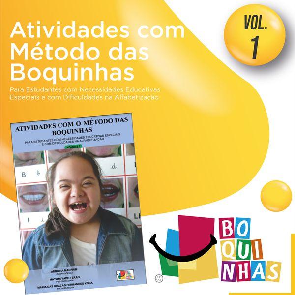 Imagem principal do produto Atividades Boquinhas - Volume 1 - crianças com necessidades especiais