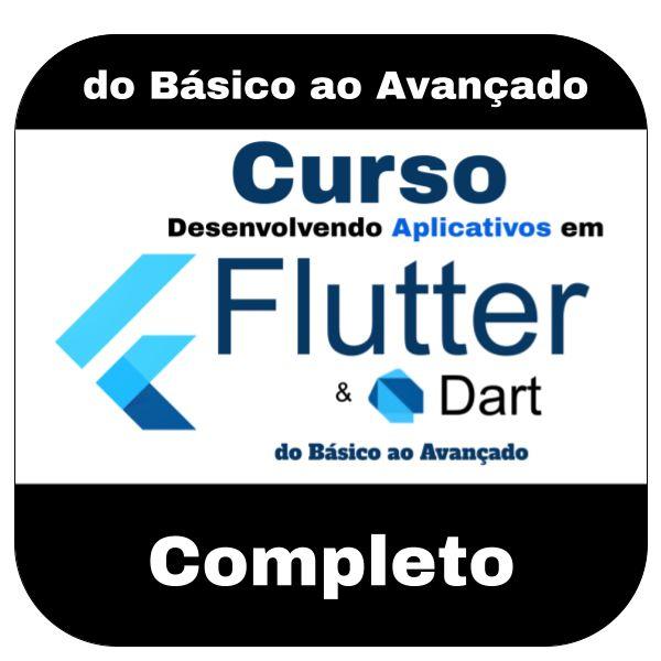 Imagem principal do produto Curso Desenvolvendo Aplicativos em Flutter e Dart do Básico ao Avançado + Códigos Fontes