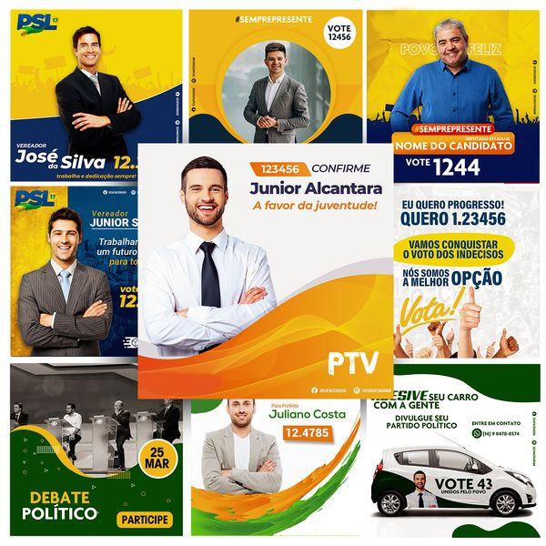 Imagem principal do produto ARTES PACK POLÍTICO EM PSD (PHOTOSHOP) ELEIÇÕES 2021